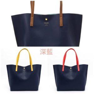 實拍!日本 Colours by Jannifer sky 6色 手袋 平口 tote bag 側孭袋