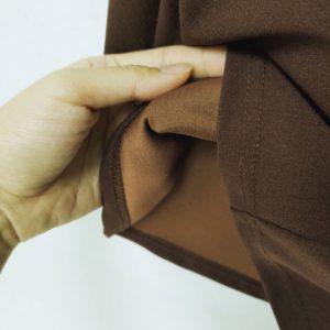 日本Lunacion 大碼(中碼)雪紡 闊腳褲 朱古力 啡色 九分褲