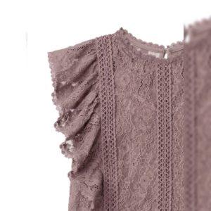 心心眼😍日本GRL 早秋 荷葉袖 小飛袖lace 通花 上衣