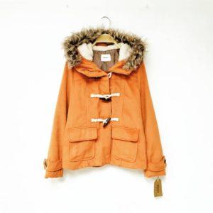 日本Spinkle 大碼 橙色 牛角鈕 外套 短褸 大褸 大衣 coat