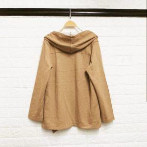 日本SelfService 超靚 鬆款 卡其色 秋冬款 披肩型 鬆身 外套