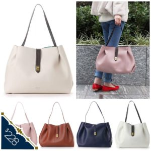 日本 Colours by Jannifer sky 仿皮 6色 扣帶 餃子袋 手袋 handbag