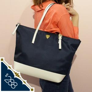日本 Colours by Jannifer sky 防潑水 尼龍 手袋 handbag tote bag