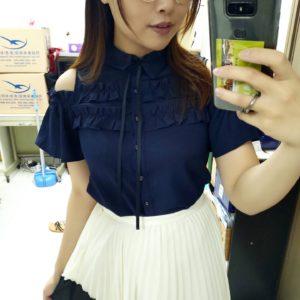 日本ByeBye 花邊 露膊 恤衫 上衣 Top