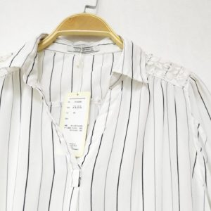日本C2 Feburary 間條 恤衫 上衣 五分袖 TOP