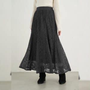日本 四季 通花 lace 半截裙