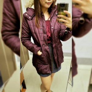 美國大牌 Arizona Jeans 白色 深紫紅色 外套 棉褸coat