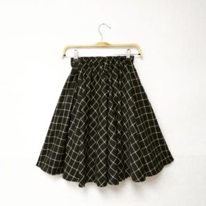 超大擺!日本SIMPLE BEAUTY BASIC 大擺 黑色 格仔裙