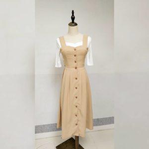 超靚大推😍日本單 綁帶 四季 外襯 吊帶 連身裙 吊帶裙 DRESS