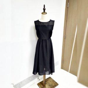 ❤️清涼!日本Alicia Pageboy 春夏 背心裙連身裙 黑色 雪紡 dress