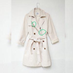 [瑕] 日本Mews Refined Clothes 中碼 大碼 乾濕褸 兩排鈕 秋冬款 中長褸 風褸 外套 卡其 淺杏色 Drench Coat Jacket Blazer (Copy)