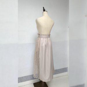 日本Cross2. Co 四季 拼色 lace橡筋腰 半截裙