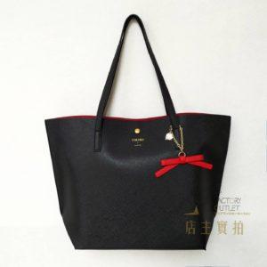 日本 Colours by Jannifer sky 仿皮 十字紋 手袋 handbag 平口 tote bag