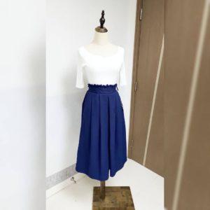 日本WIN HEART 寶藍色 半截裙 SKIRT