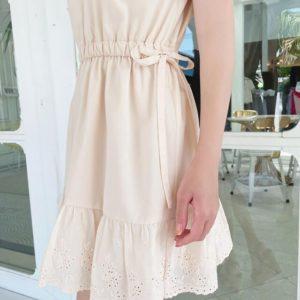 日本貴牌 michellMacaron 奶黃色 連身裙