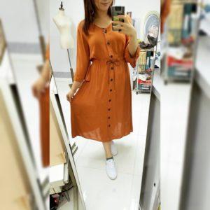 送腰帶!日本Lax Dan Tia 春夏 喇叭袖 連身裙